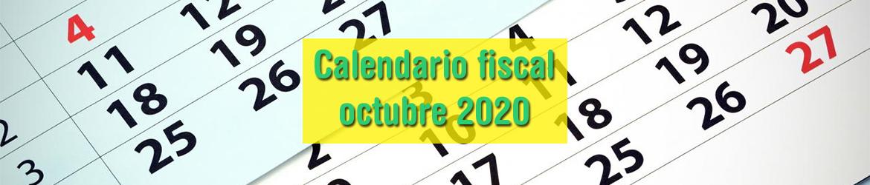 Calendario fiscal octubre 2020
