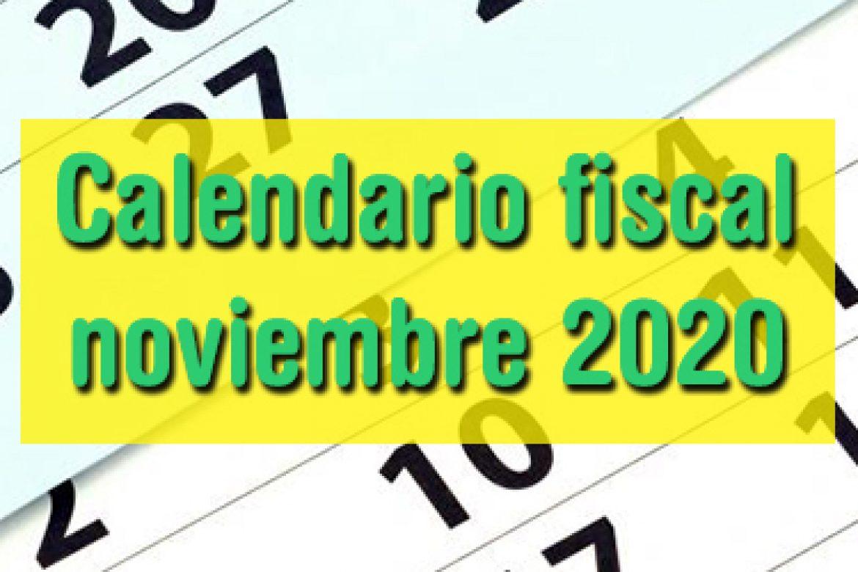 Calendario fiscal noviembre 2020
