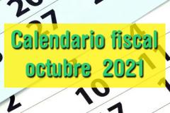 Calendario fiscal octubre 2021